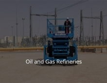 Scissor lift Rental &  Al kharj Refinery Projects